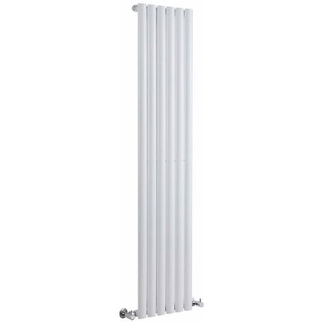 Milano Aruba - Modern White Vertical Column Single Panel Designer Radiator - 1600mm x 354mm