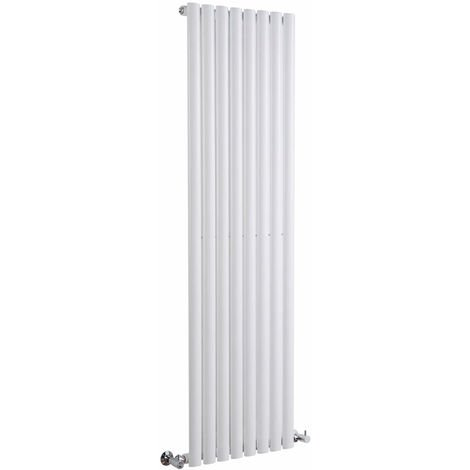 Milano Aruba - Modern White Vertical Column Single Panel Designer Radiator – 1600mm x 472mm