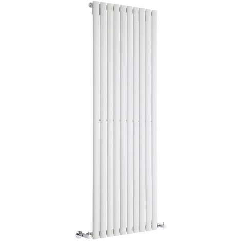 Milano Aruba - Modern White Vertical Column Single Panel Designer Radiator – 1600mm x 590mm