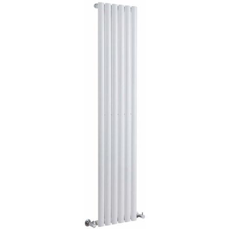 Milano Aruba - Vertical Oval Column Designer Radiator - White - 1600 x 354mm