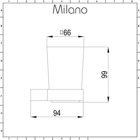 Milano Arvo – Modern Wall Mounted Square Bathroom Glass Toothbrush Tumbler and Chrome Holder