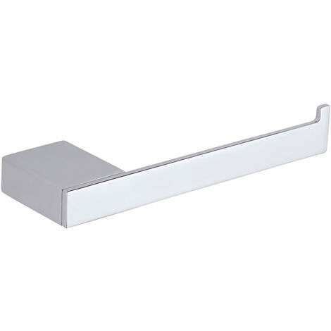 Milano Arvo – Modern Wall Mounted Square Bathroom Toilet Roll Holder - Chrome