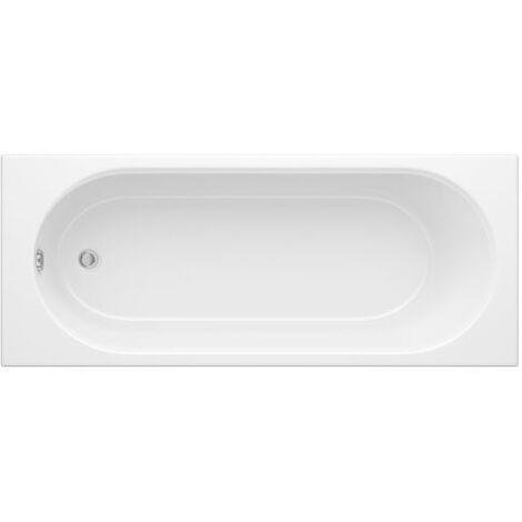 Milano Ballam - White Modern Bathroom Single Ended Bath - 1500mm x 700mm