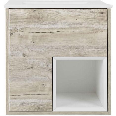 Milano Bexley – Light Oak 610mm Bathroom Vanity Unit with Basin