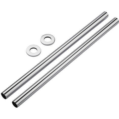 Milano Chrome Pipes and Shrouds 300 mm (Pair)