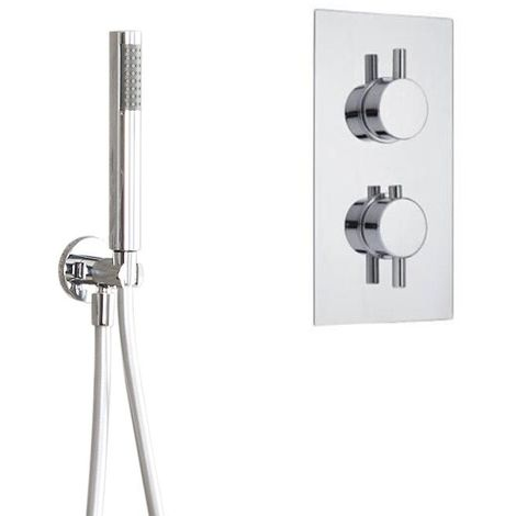 Milano Como Shower System - Thermostatic Concealed Twin Valve & Round Handshower