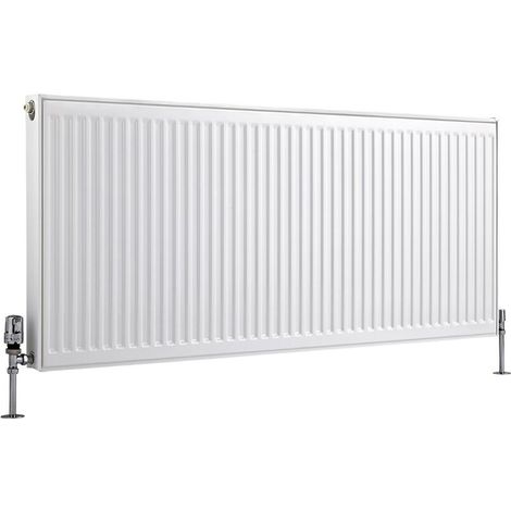 Milano Compact – Modern White Type 11 Central Heating Single Panel Horizontal Convector Radiator - 600mm x 1400mm