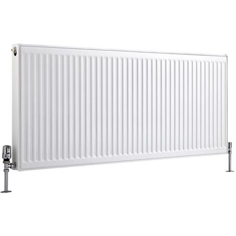Milano Compact – Modern White Type 21 Central Heating Double Panel Plus Horizontal Convector Radiator - 600mm x 1400mm