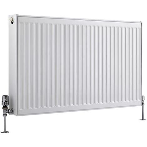 Milano Compact – Modern White Type 22 Central Heating Double Panel Horizontal Convector Radiator - 600mm x 1000mm