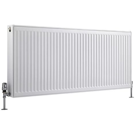 Milano Compact – Modern White Type 22 Central Heating Double Panel Horizontal Convector Radiator - 600mm x 1400mm