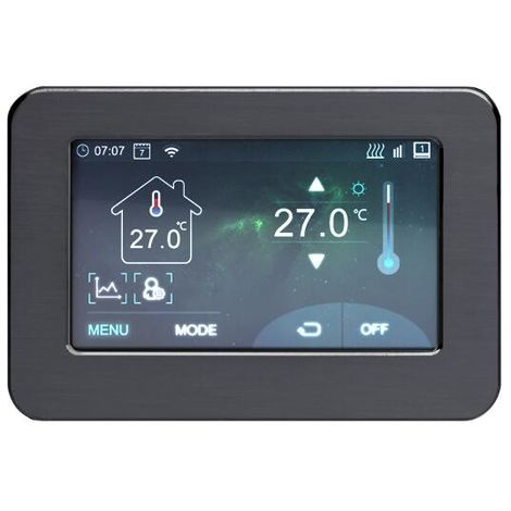 Milano Connect - WiFI Touchscreen Programmable Temperature Control Heating Thermostat - Google Home and Amazon Alexa Compatible