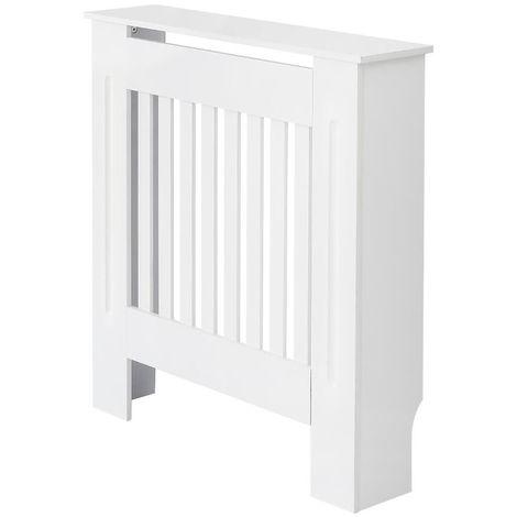 Milano Ealing - White Horizontal Radiator Cabinet Cover - 815mm x 780mm
