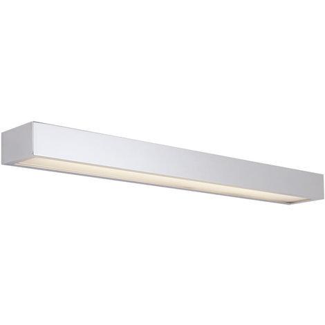 Milano Eamont 18W LED Chrome Rectangular IP44 Bathroom Up/Down Wall Shelf Light - Warm White (3000K)