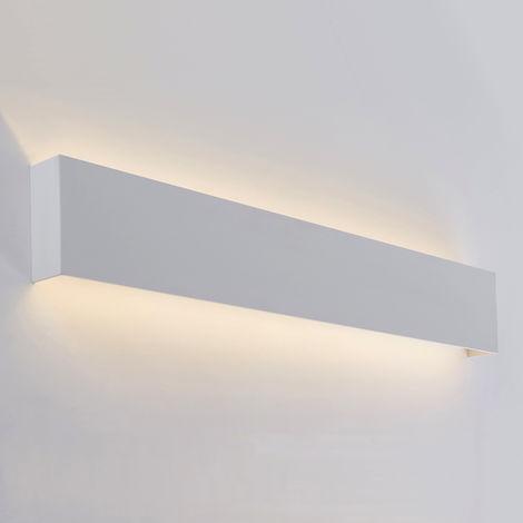Milano Eamont - 18W LED Matt White Rectangular IP44 Bathroom Up/Down Wall Light - Warm White