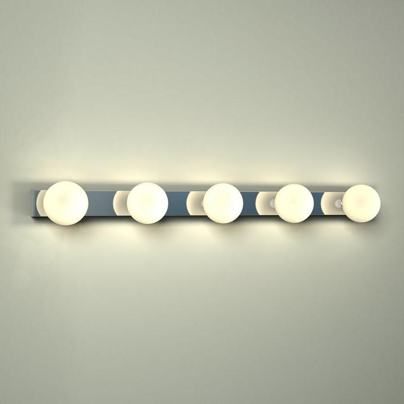 Image of Ebro - 15W LED Hollywood Chrome IP44 Bathroom or Bedroom Over Mirror Wall Light - Milano