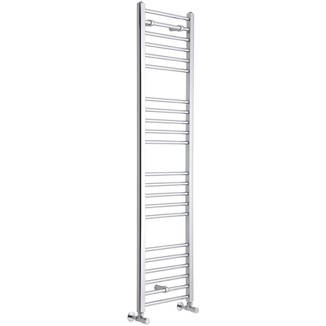 Milano Eco - Chrome Heated Bathroom Towel Ladder Radiator Rail 1600mm x 400mm - Flat