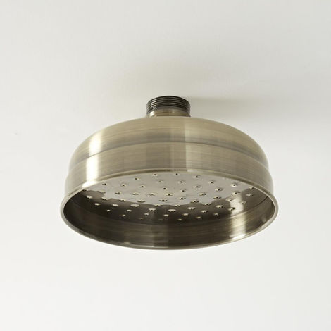 Milano Elizabeth - Traditional 150mm Round Fixed Apron Shower Head - Brushed Gold