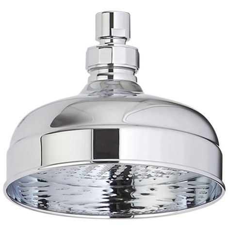 Milano Elizabeth - Traditional 150mm Round Rainfall Fixed Apron Rainfall Shower Head - Chrome