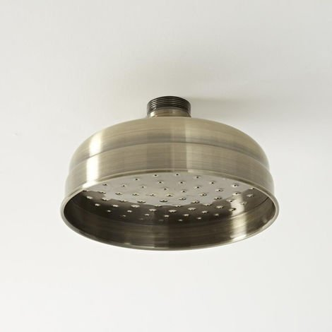 Milano Elizabeth - Traditional 155mm Round Fixed Apron Shower Head - Brushed Gold