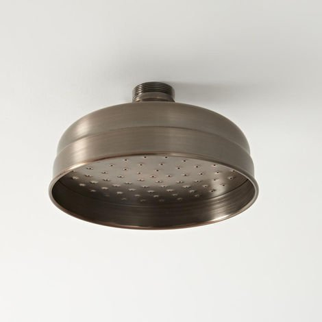 Milano Elizabeth - Traditional 155mm Round Fixed Apron Shower Head - Oil Rubbed Bronze