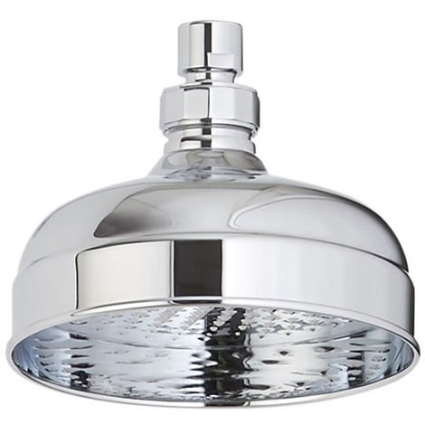 Milano Elizabeth - Traditional 155mm Round Rainfall Fixed Apron Rainfall Shower Head - Chrome