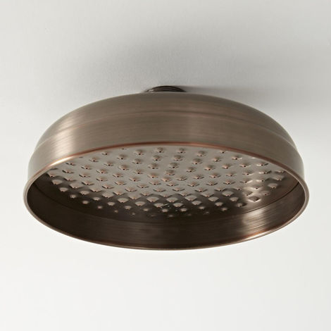 Milano Elizabeth - Traditional 200mm Round Fixed Apron Shower Head - Oil Rubbed Bronze