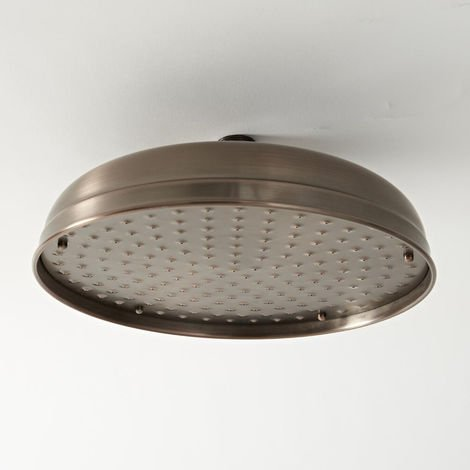 Milano Elizabeth - Traditional 300mm Round Fixed Apron Shower Head - Oil Rubbed Bronze