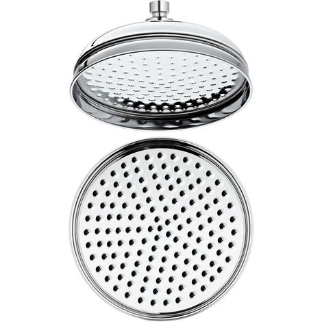 Milano Elizabeth - Traditional 300mm Round Rainfall Fixed Apron Rainfall Shower Head - Chrome