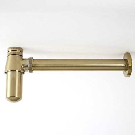 Milano Elizabeth - Traditional Bottle Trap for Wall Hung Bathroom Basin Sink - Brushed Gold