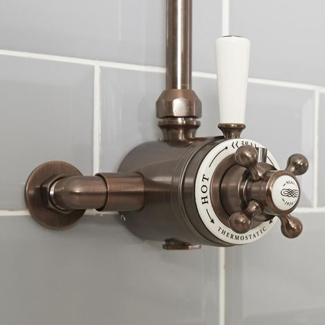 Milano Elizabeth - Traditional Dual Exposed Thermostatic Shower Valve - Oil Rubbed Bronze