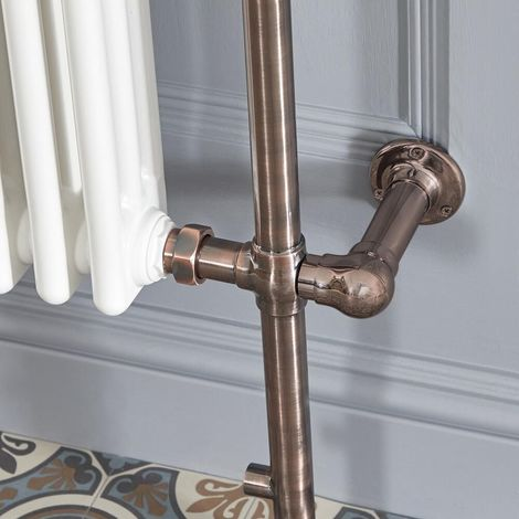 Milano Elizabeth - Traditional Electric Dual Fuel Heated Towel Rail Radiator Element Cable Cover - Oil Rubbed Bronze