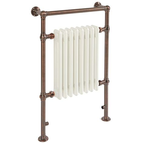 Milano Elizabeth - Traditional Oil Rubbed Bronze Electric Heated Towel Rail Radiator - 930mm x 620mm