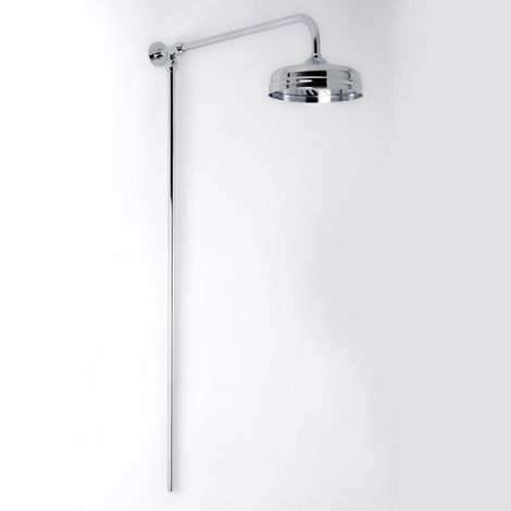Milano Elizabeth - Traditional Rigid Riser Shower Kit with Fixed Shower Head - Chrome