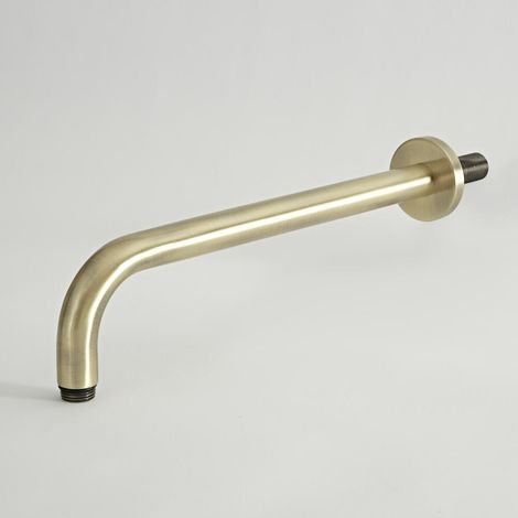 Milano Elizabeth - Traditional Wall Mounted Shower Arm for Fixed Shower Head - Brushed Gold