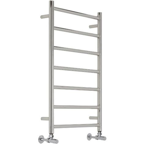 Milano Esk Flat Heated Towel Rail - Stainless Steel - 500 mm x 800 mm