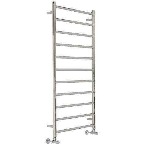 Milano Esk Flat Heated Towel Rail - Stainless Steel - 600 mm x 1200 mm