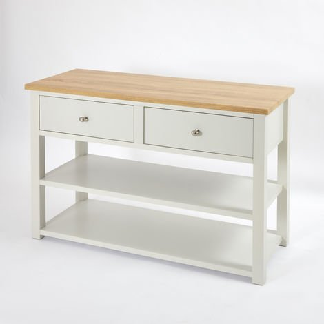 Milano Henley - Antique White and Oak 1240mm Traditional Bathroom Cloakroom Vanity Unit