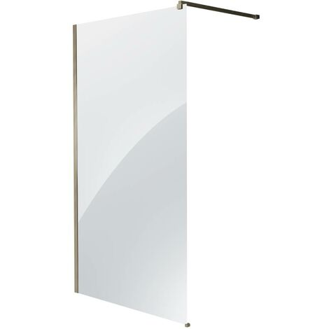 Milano Hunston - Wet Room Shower Enclosure Screen Profile and Support Arm - Brushed Nickel