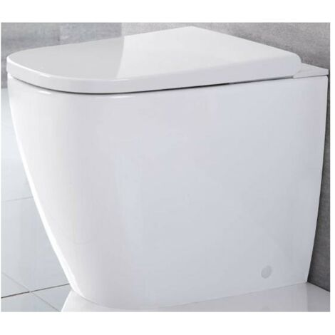Milano Luxus - Modern White Ceramic Back to Wall Japanese Bidet Toilet