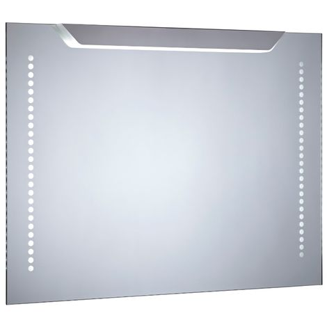 Milano Minho - 500 x 700mm 13W LED IP44 Bathroom Mirror with Sweep Motion Sensor & Demister