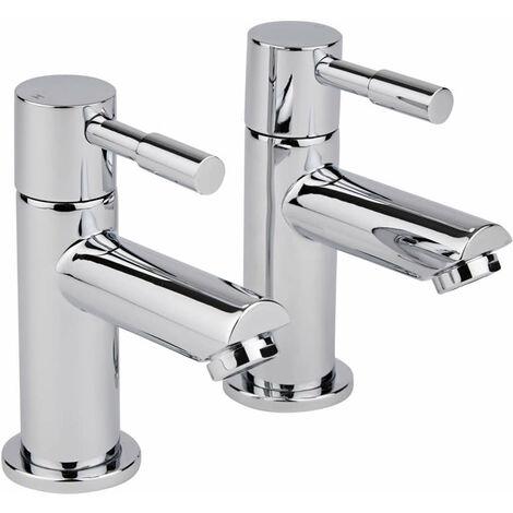 Milano Mirage – Modern Bathroom Basin Pillar Taps - Chrome