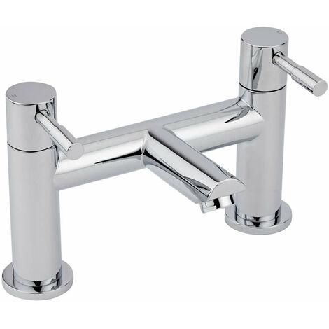 Milano Mirage - Modern Bathroom Bath Filler Tap with Lever Handles - Chrome