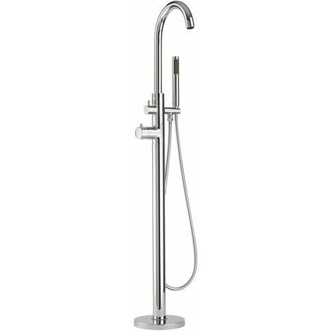 Milano Mirage - Modern Freestanding Thermostatic Bath Shower Mixer Tap with Hand Shower Handset - Chrome