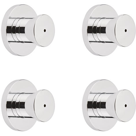 Milano Mirage - Modern Front Fix Chrome Bathroom Shower Body Jets - Pack of 4