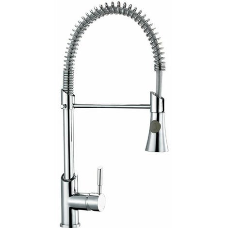 """main image of """"Milano Mirage - Modern Kitchen Sink Mixer Tap with Pull Out Nozzle and Swivel Spout – Chrome"""""""