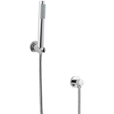 Milano Mirage - Modern Pencil Hand Shower Handset with Hose, Wall Bracket and Outlet Elbow - Chrome