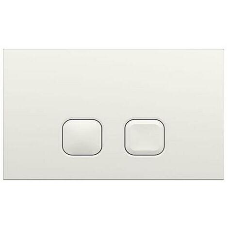 Milano - Modern White Toilet WC Dual Flush Square Button Wall Plate