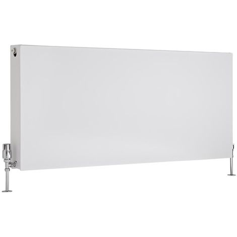 Milano Mono – Modern White Type 22 Central Heating Double Flat Panel Horizontal Convector Radiator - 600mm x 1400mm