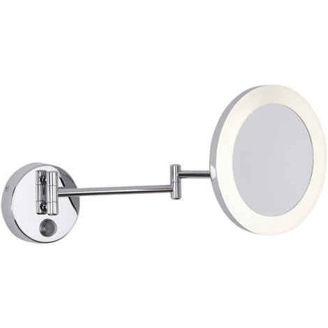 Milano Oirase Round 3W LED Wall Mounted IP44 Bathroom Vanity Mirror with 3x Magnification - Cool White (6500K)