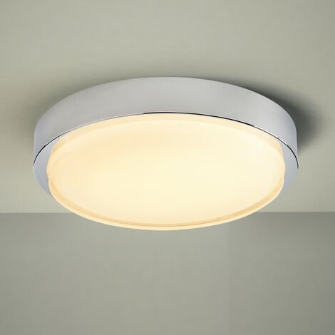 Milano Orchy - 18W LED Round Chrome IP44 Bathroom Ceiling Bulkhead Light - Warm White